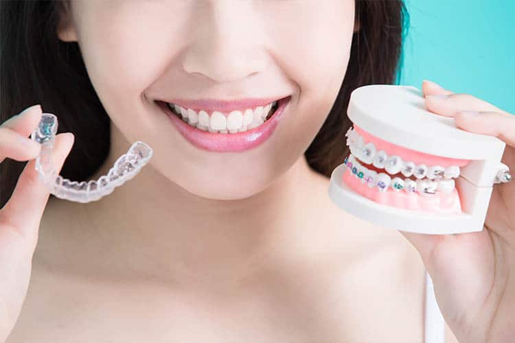 woman with braces in yorktown heights