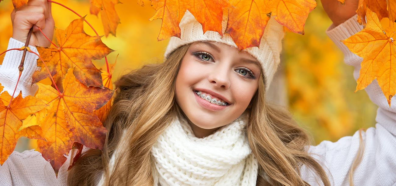 Girl with orthodontics in Yorktown Heights NY